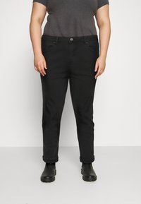 Simply Be - DEMI HIGH WAIST MOM - Relaxed fit jeans - washed black - 0