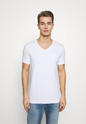 LINCOLN VNECK - T-shirt basic - white