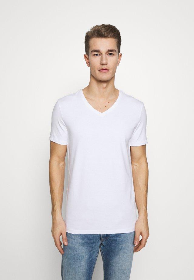 LINCOLN VNECK - T-shirt basique - white