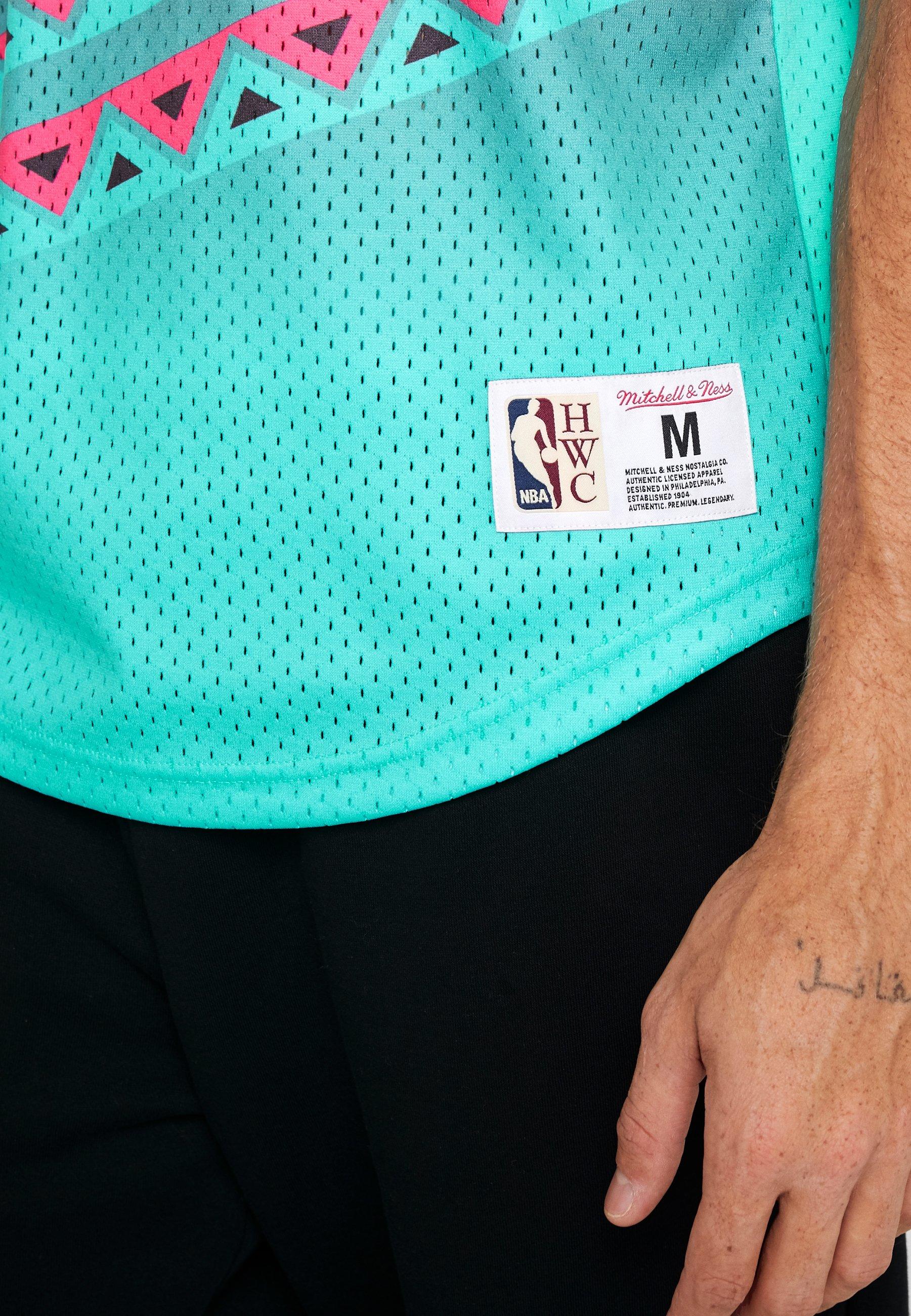 Mitchell & Ness NBA ALL STAR GAME WINNING SHOT  - T-shirt imprimé - black/teal