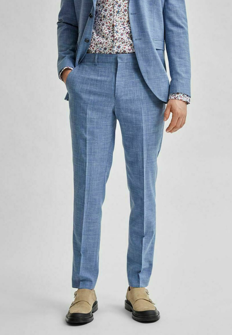 Selected Homme - Suit trousers - light blue