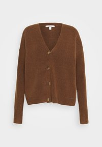 Esprit - BUTTON CARDI - Kardigan - brown - 0