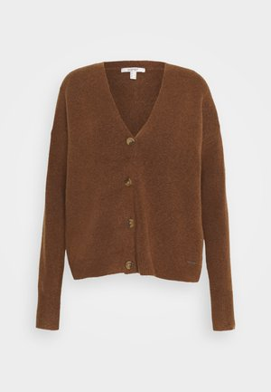 BUTTON CARDI - Cardigan - brown