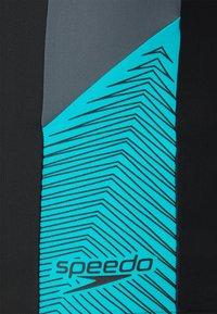 Speedo - DIVE JAMMER AM - Swimming trunks - black/usa charcoal/hypsonicblu - 2