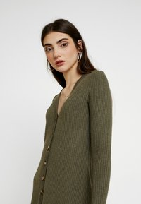 American Eagle - BUTTON THROUGH WAFFLE DRESS - Jumper dress - olive - 3
