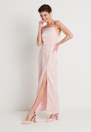 HIGH SLIT DRESS - Maxi dress - dusty pink