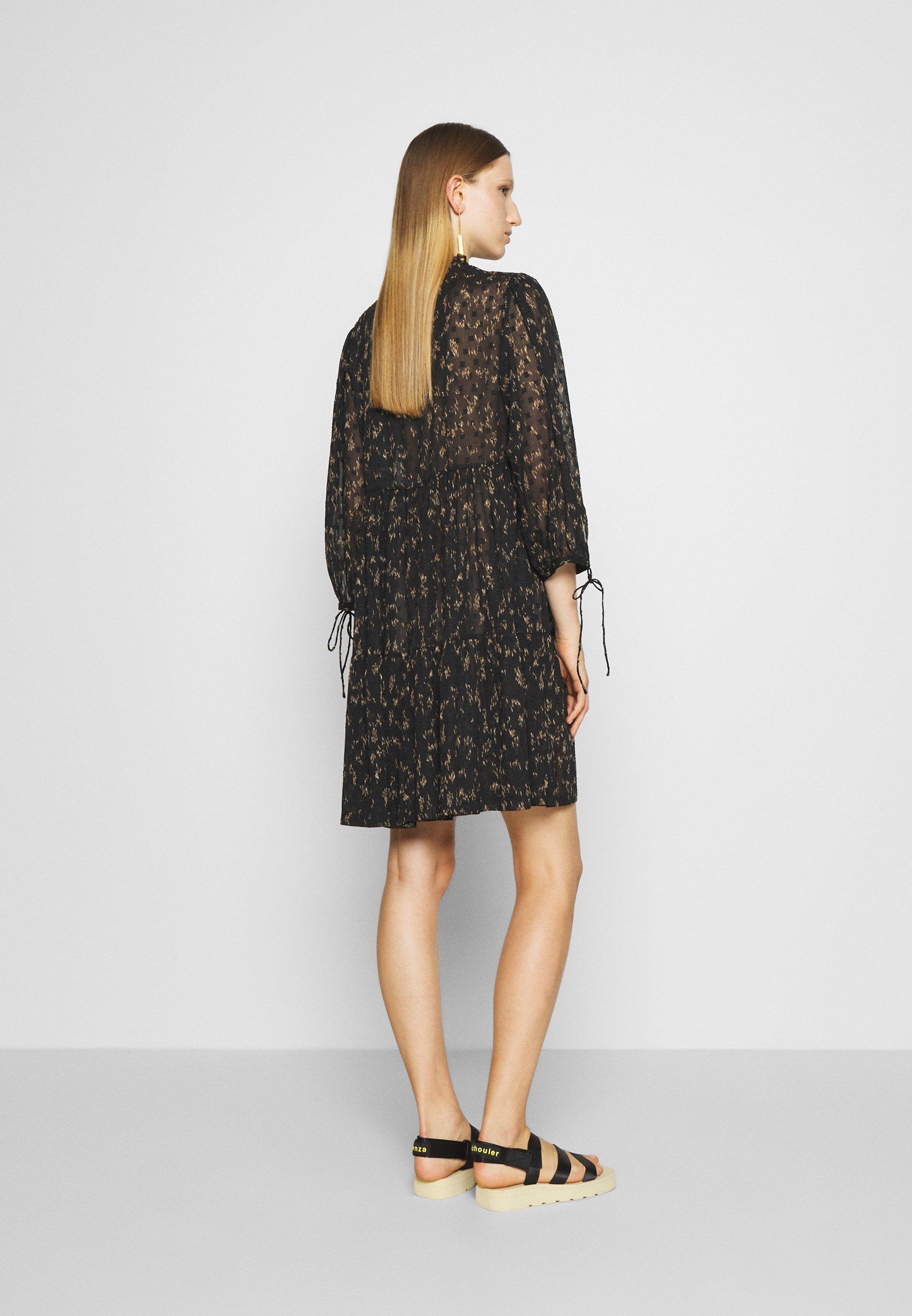 100% Guaranteed Women's Clothing DESIGNERS REMIX KIELY DRESS Day dress black/camel awHqoLkz1
