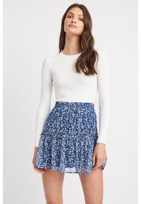 A-line skirt - lq-blue