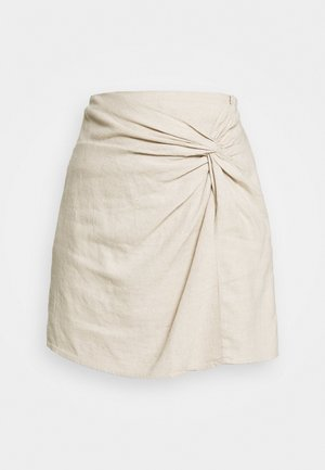 Mini skirt - flax