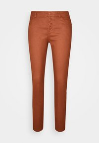 comma - Spodnie materiałowe - cognac - 3