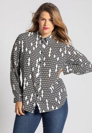 Button-down blouse - schwarz