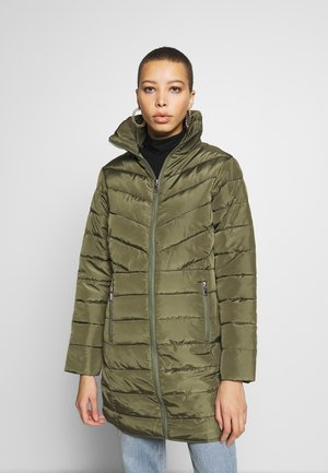 SUSTAINABLE LONG JACKET - Classic coat - khaki