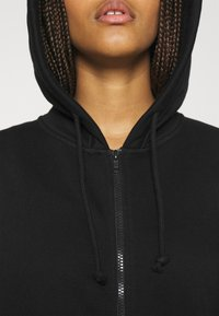 Weekday - HUGE ZIP HOODIE - Zip-up hoodie - black - 5