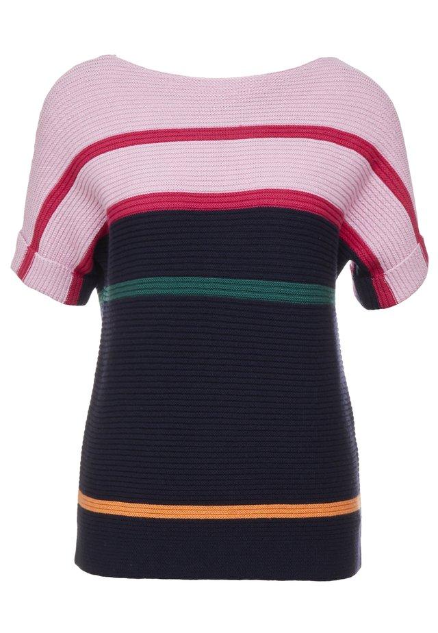 T-shirt z nadrukiem - light pink/dark blue
