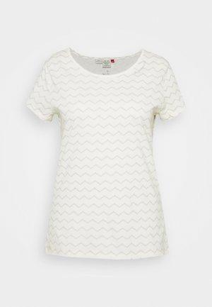 CHEVRON - T-shirt imprimé - off white