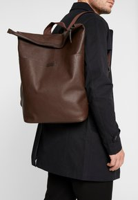 Zign - UNISEX LEATHER - Reppu - dark brown - 1