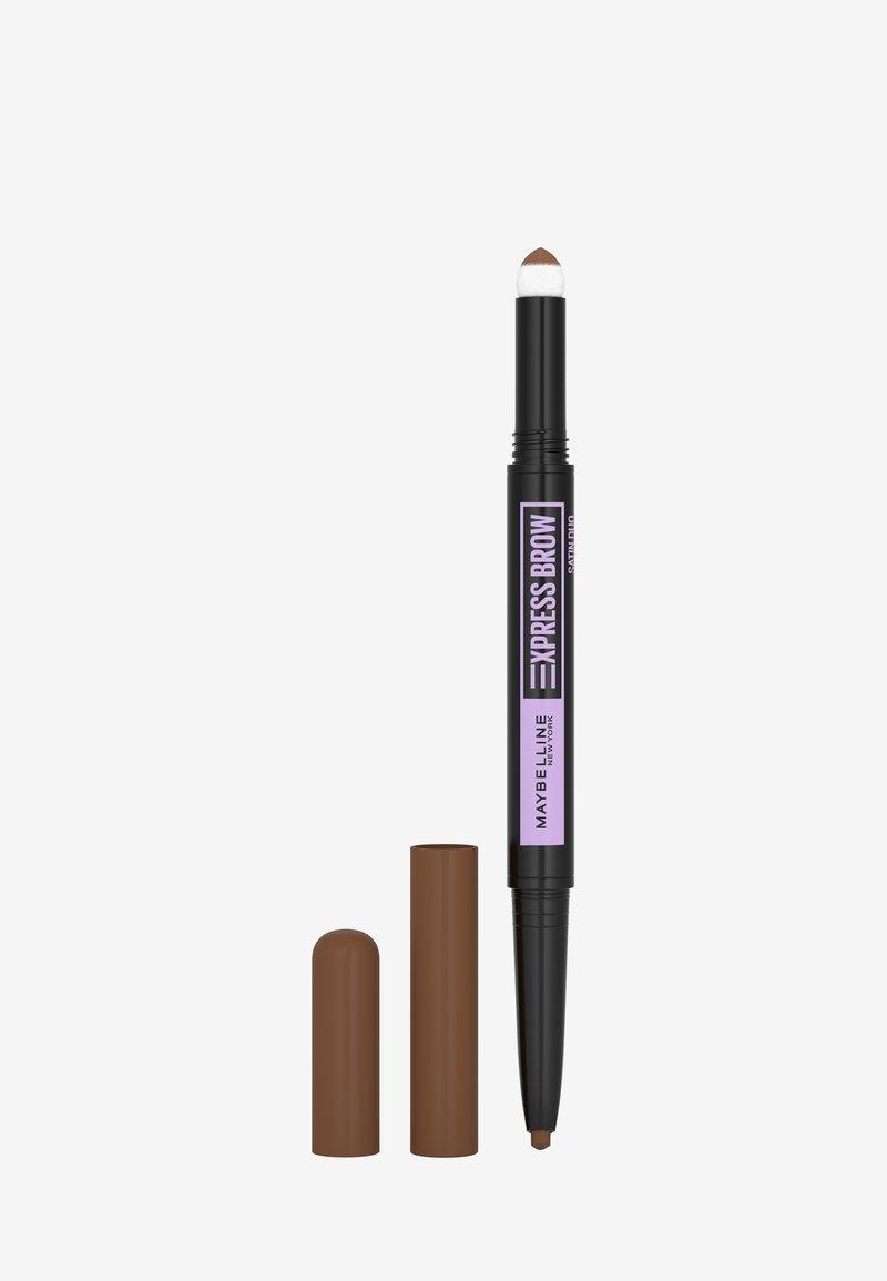 Maybelline New York - EXPRESS BROW SATIN DUO - Eyebrow pencil - 2 medium brown