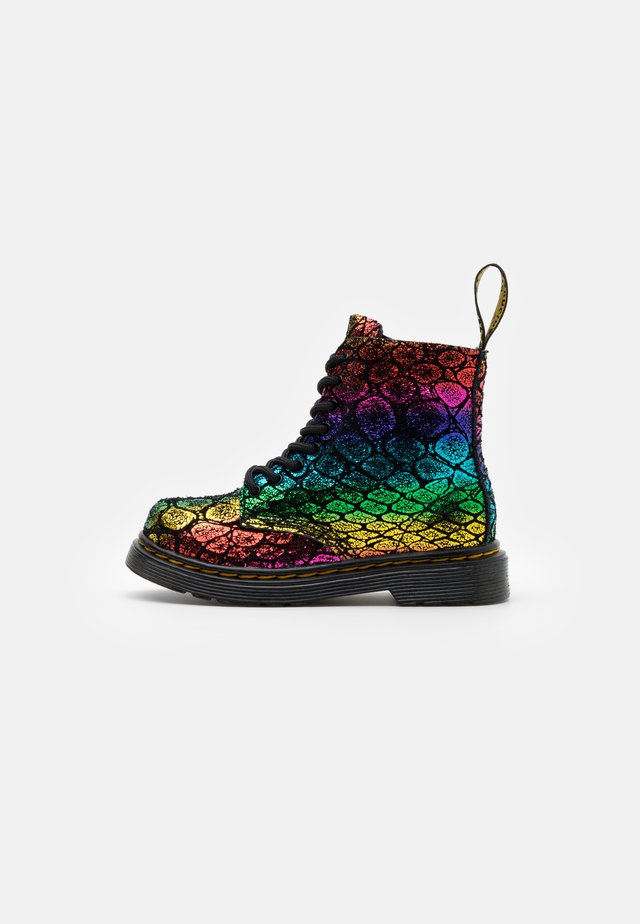 1460 PASCAL METALLIC  - Classic ankle boots - black/rainbow