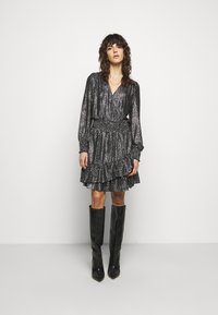 MICHAEL Michael Kors - SPACED GALAXY  - Cocktail dress / Party dress - black / silver - 0