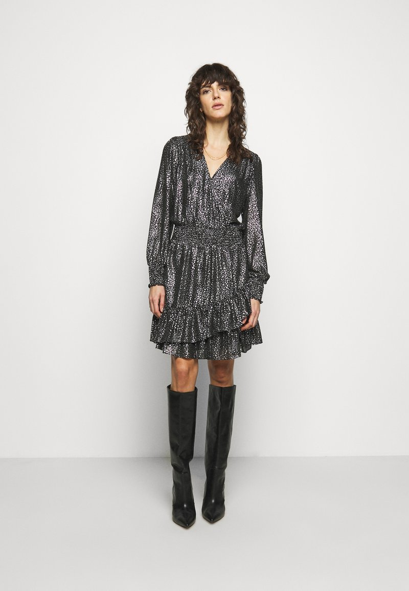 MICHAEL Michael Kors - SPACED GALAXY  - Cocktail dress / Party dress - black / silver
