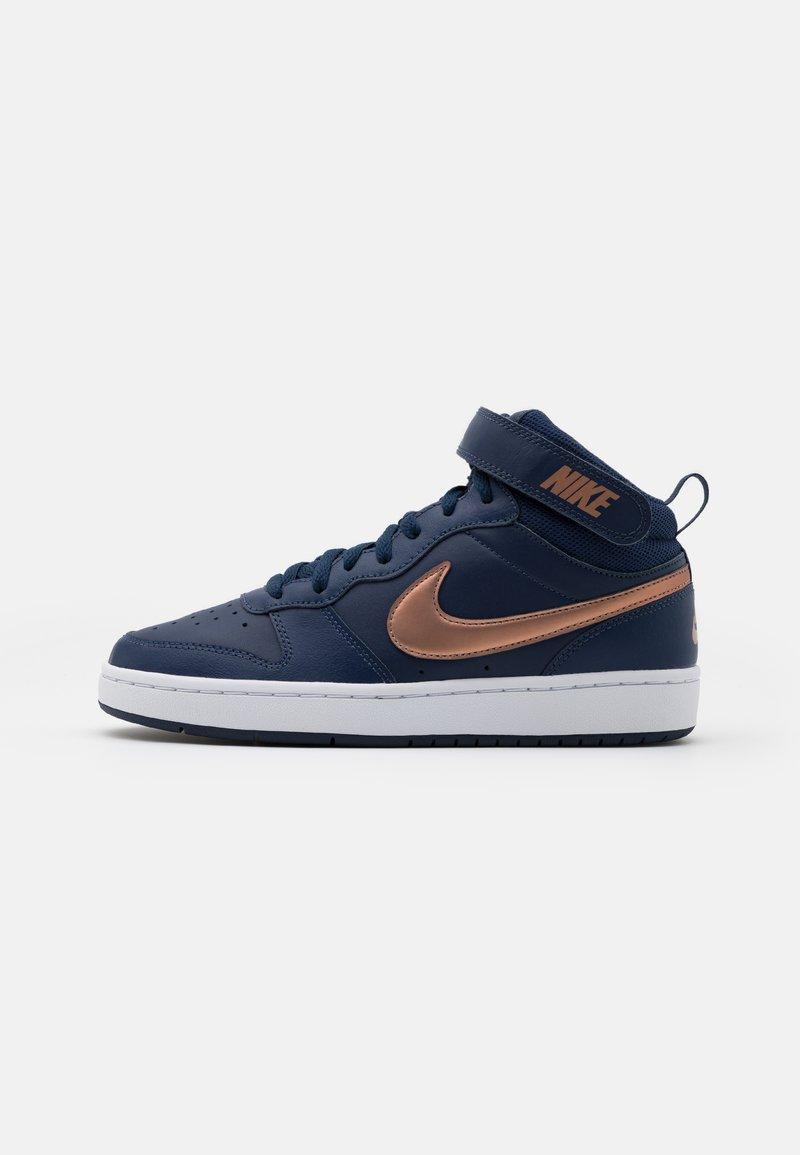 Nike Sportswear - COURT BOROUGH MID 2 UNISEX - Baskets montantes - midnight navy/metallic red bronze/midnight navy/white