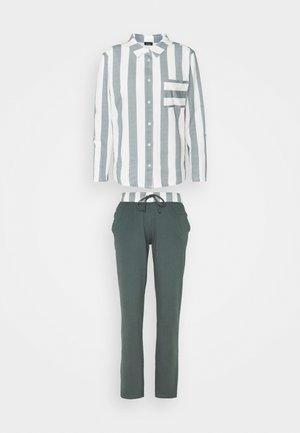 STRIPE SET - Pyjamas - grey/white
