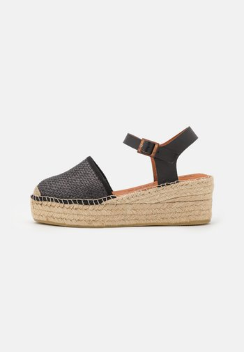 JAVA  - Sandály na platformě - black