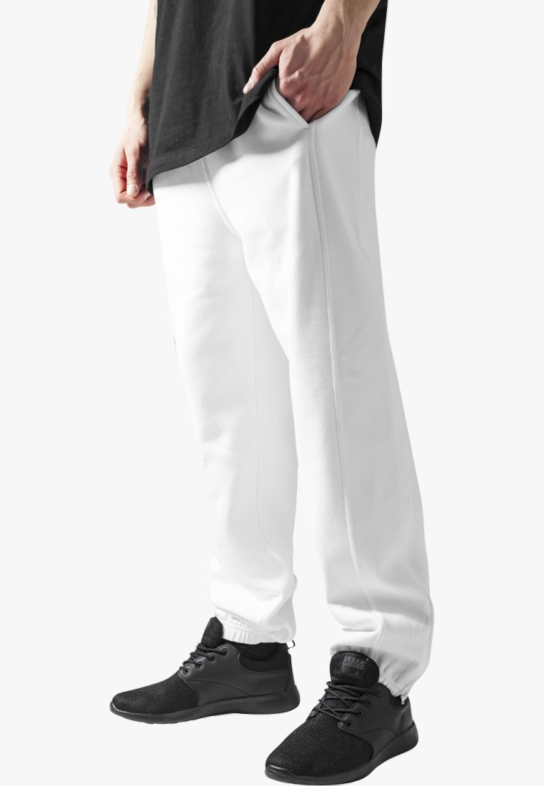 Urban Classics - SWEATPANTS SP. - Tracksuit bottoms - white