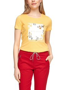 s.Oliver - MIT ARTWORK - Print T-shirt - yellow placed print - 5