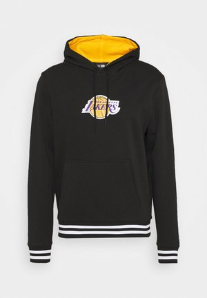 LOS ANGELES LAKERS NBA VARSITY DETAIL HOODY - Club wear - black