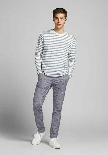 MARCO DAVE LEINEN - Pantalones chinos - black