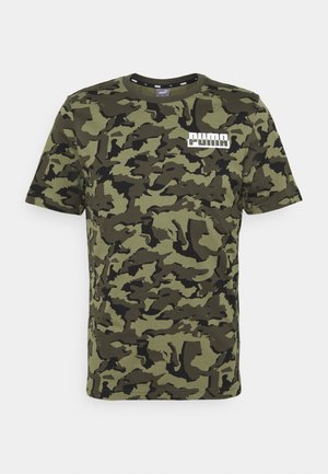 CORE CAMO TEE - Funktionstrøjer - forest night