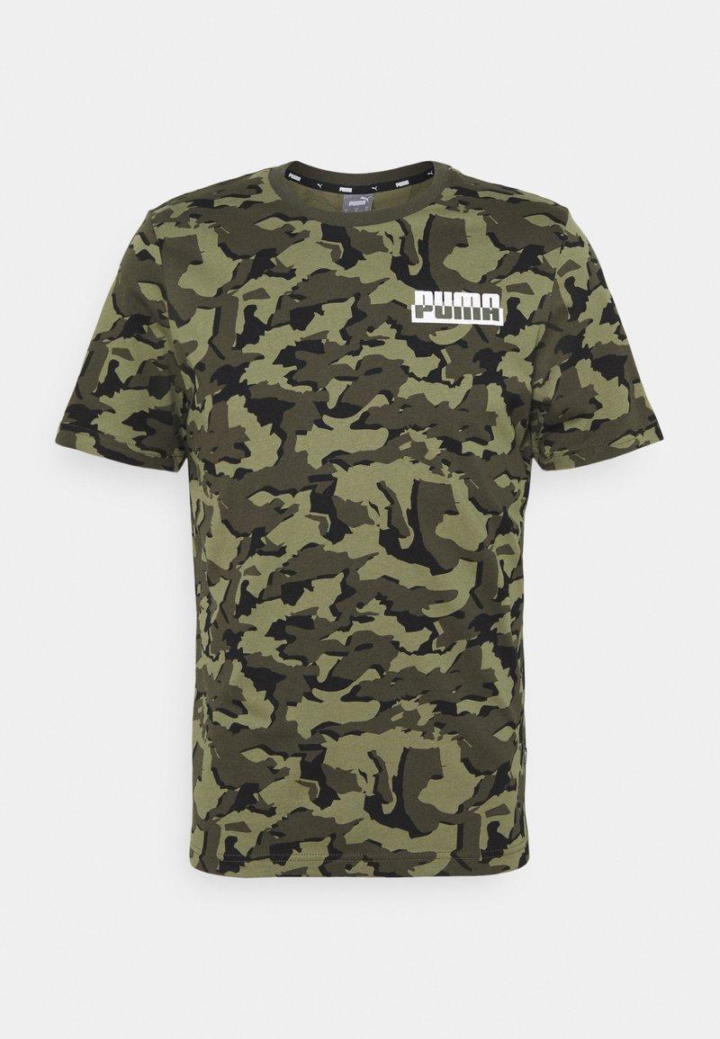 Puma - CORE CAMO TEE - Sports shirt - forest night