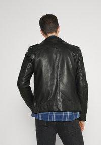 Oakwood - SOLDIER - Leather jacket - black - 2