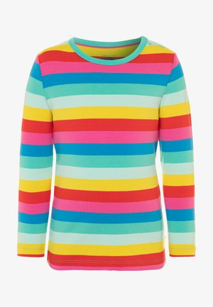 ORGANIC COTTON EVERYTHING RAINBOW LONG SLEEVE - Long sleeved top - flamingo/multicolor