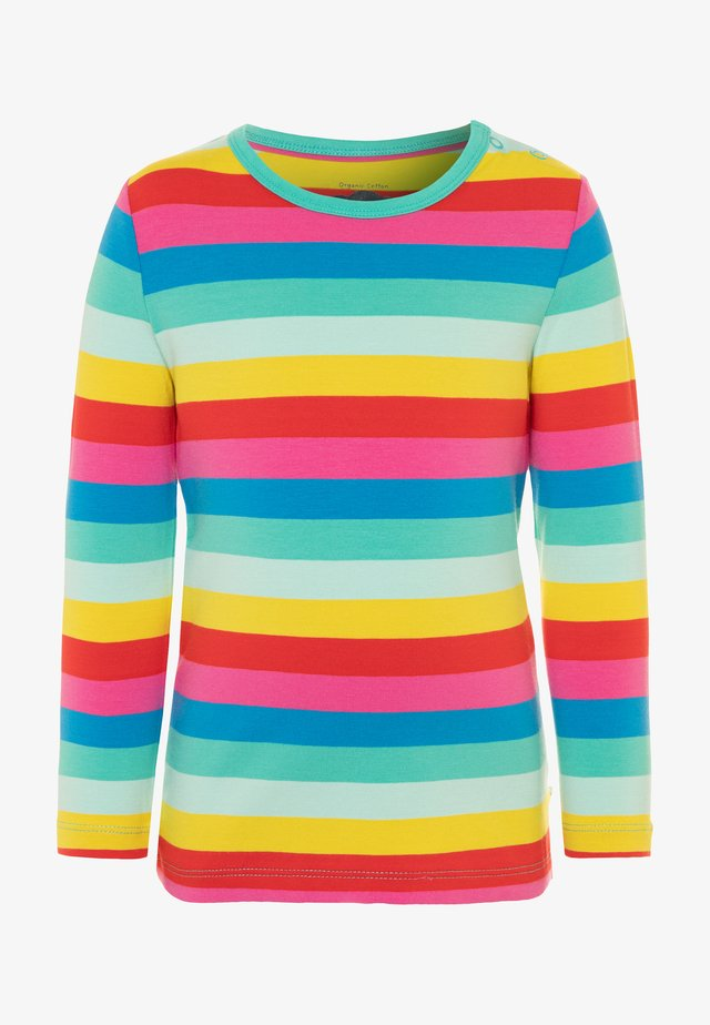 ORGANIC COTTON EVERYTHING RAINBOW LONG SLEEVE - T-shirt à manches longues - flamingo/multicolor