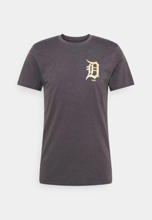 MLB DETROIT TIGERS NEW ERA METALLIC TEE - Squadra - dark grey