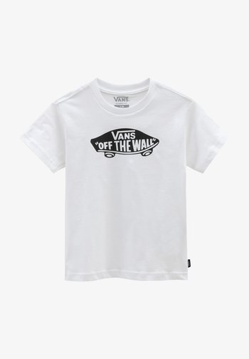 BY VANS OTW KIDS - Print T-shirt - white/black