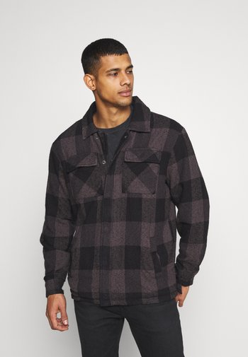 LUKE - Summer jacket - black/grey