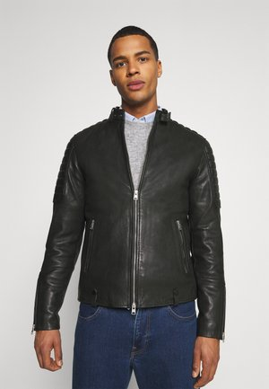 MARCON JACKET - Leather jacket - black