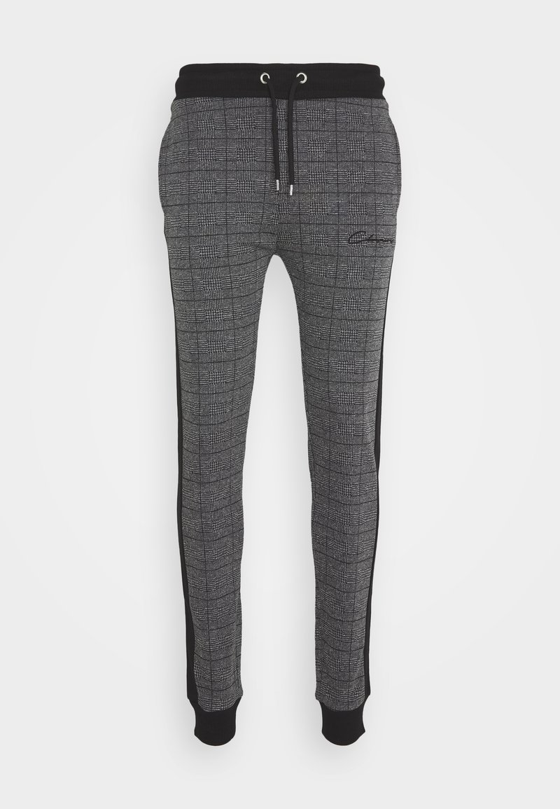 CLOSURE London - CHECKED JOGGER - Tracksuit bottoms - black
