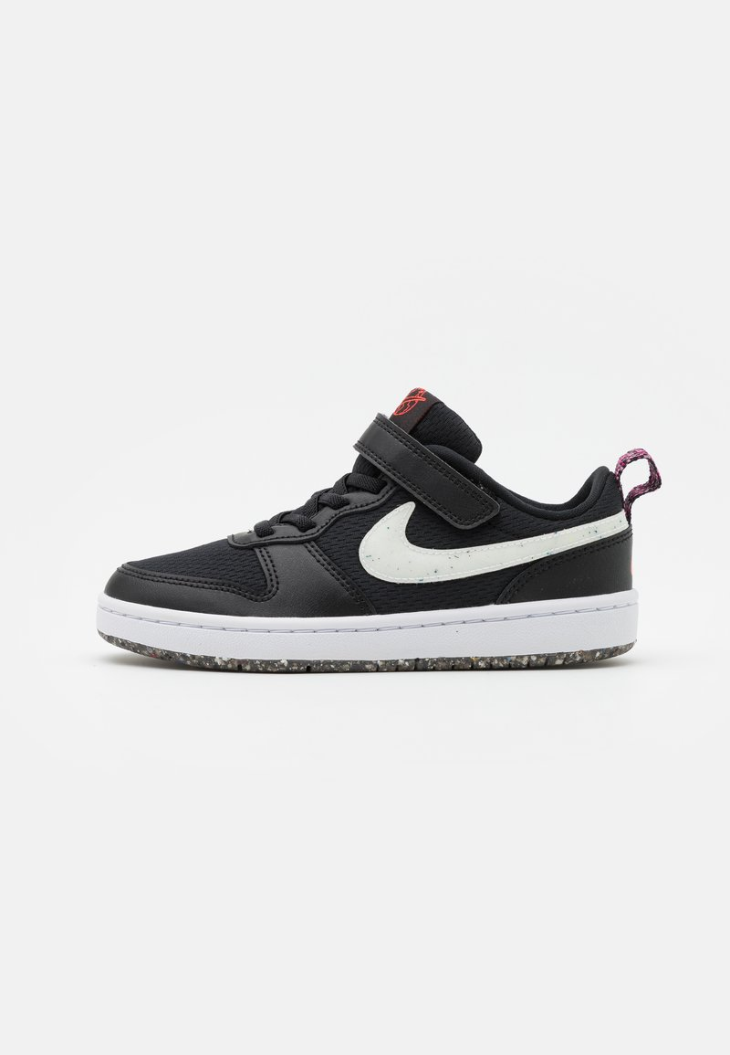 Nike Sportswear - COURT BOROUGH 2 UNISEX - Trainers - black/white/bright crimson