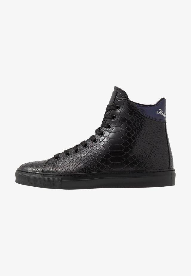 Baskets montantes - black/purple