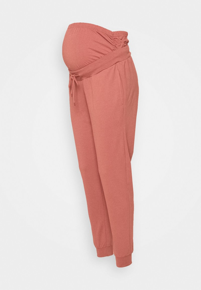 Anna Field MAMA - SLIM FIT JOGGERS - OVERBUMP - Tracksuit bottoms - pink