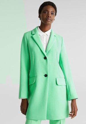 MIT FEINER STRUKTUR - Halflange jas - light green
