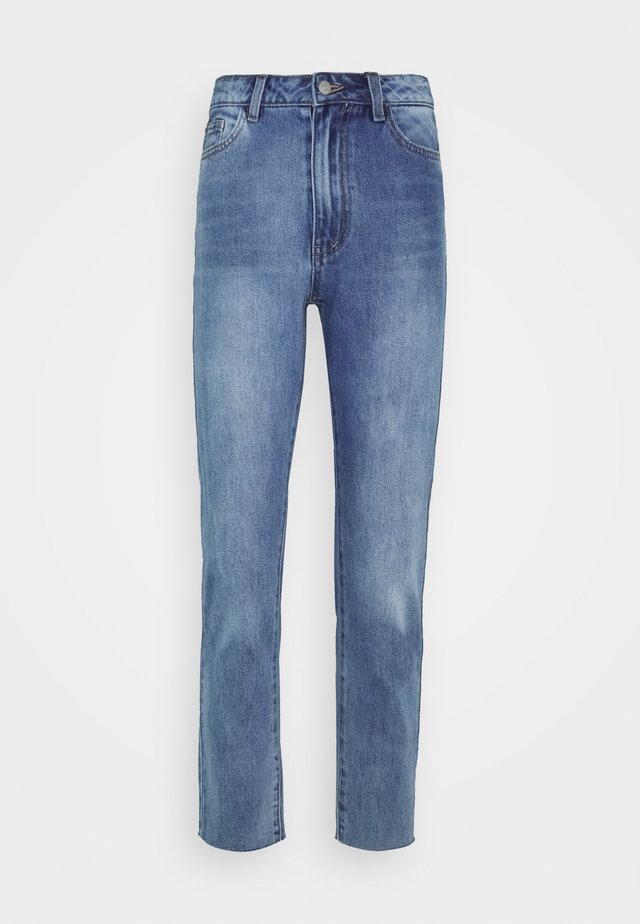 OBJNORA - Straight leg jeans - light blue denim