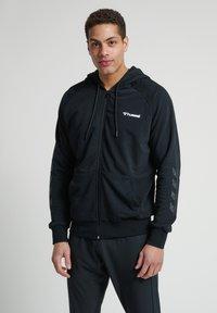 Hummel - HMLISAM  - Zip-up sweatshirt - black - 0