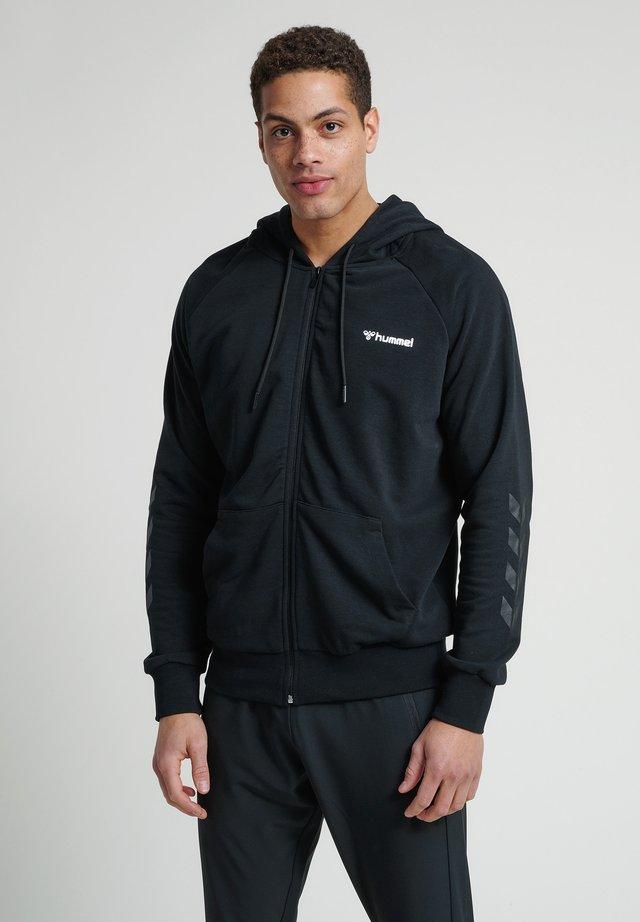 HMLISAM  - Zip-up hoodie - black