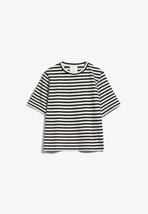 LAYAA - Print T-shirt - undyed-black