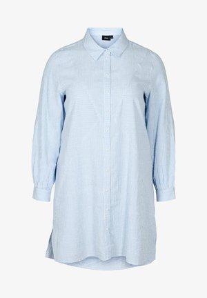 Button-down blouse - skyway stripe